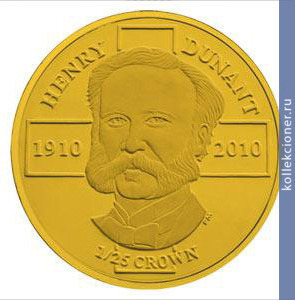 1/25 crown 2010 Life Henry Dunant